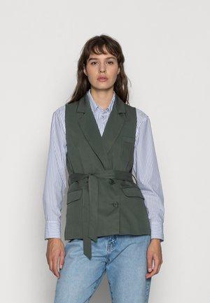 ECHO DOUBLE BREASTED WAISTCOAT - Waistcoat - deep green