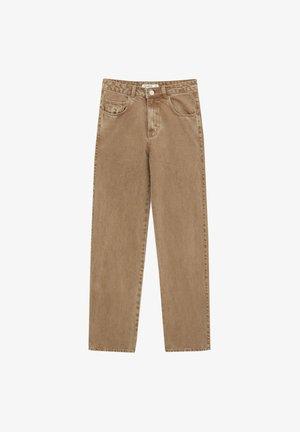 MIT HOHEM BUND - Jean droit - mottled light brown