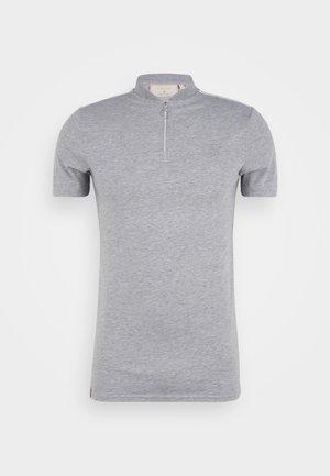 SMART ESSENTIALS BASEBALL COLLAR TEE - Poloskjorter - grey marl