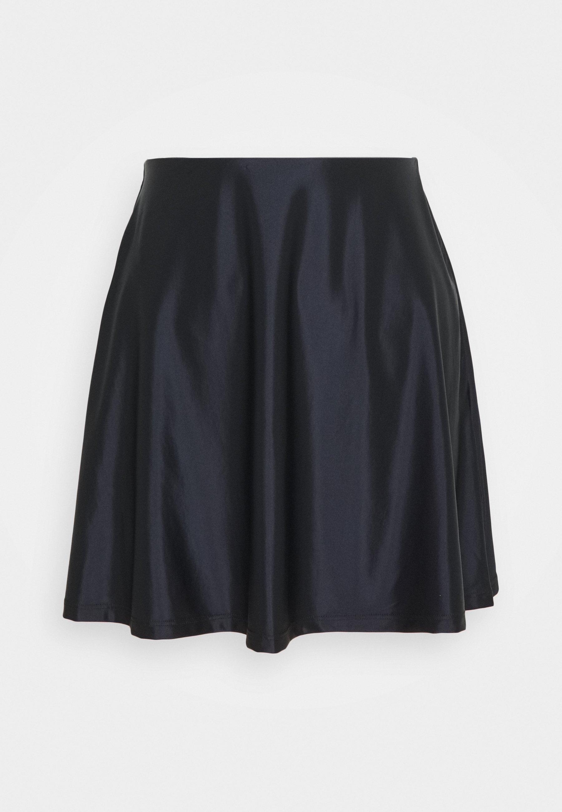 Women SATIN HIGH WAISTED MINI A-LINE SKIRT - A-line skirt