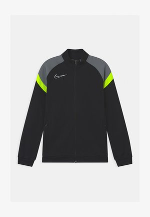 DRY ACADEMY - Training jacket - black/volt/smoke grey