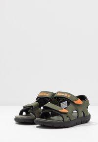 Timberland - PERKINS ROW 2 STRAP - Walking sandals - dark green - 3
