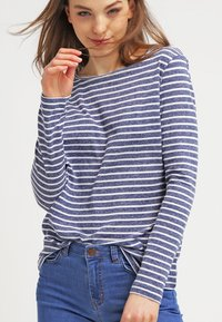Samsøe Samsøe - NOBEL STRIPE - Long sleeved top - white/blue - 0