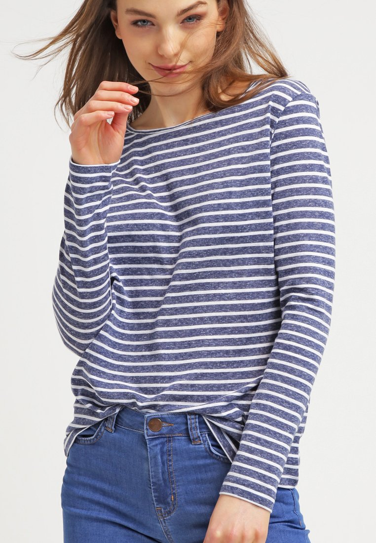 Samsøe Samsøe - NOBEL STRIPE - Long sleeved top - white/blue