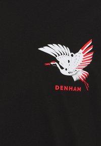 Denham - ONE CRANE TEE UNISEX - Print T-shirt - anthracite black - 2