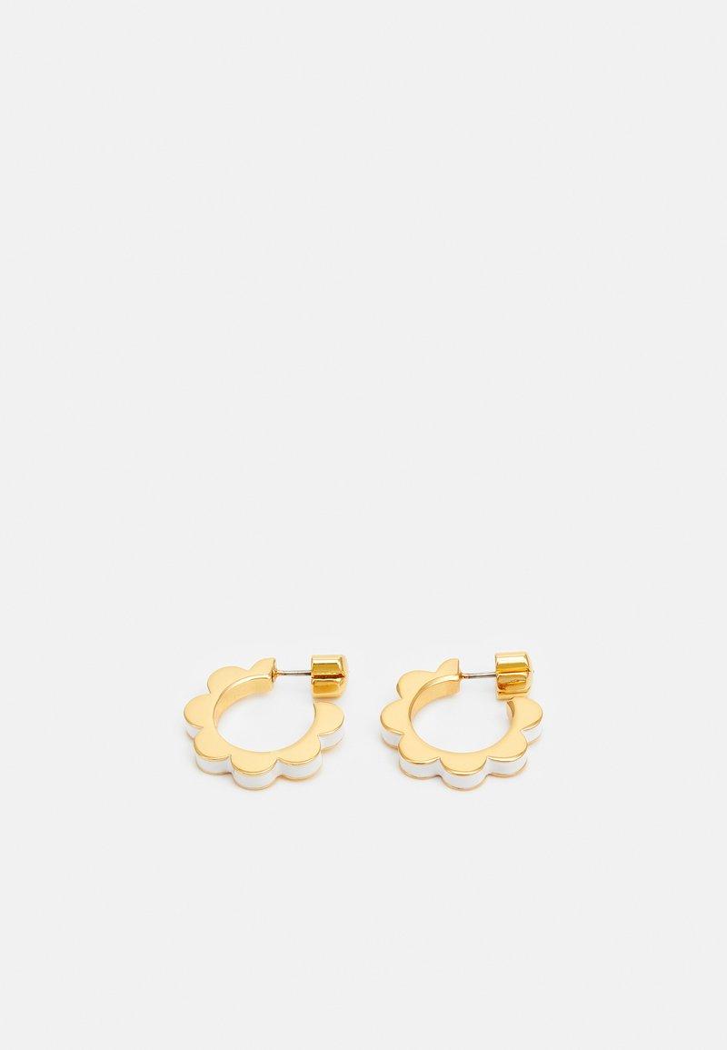 kate spade new york - SLICED SCALLOPS ENAMEL HUGGIES - Earrings - white