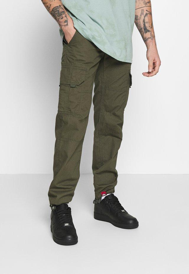 STOP PANT - Pantaloni cargo - dark olive