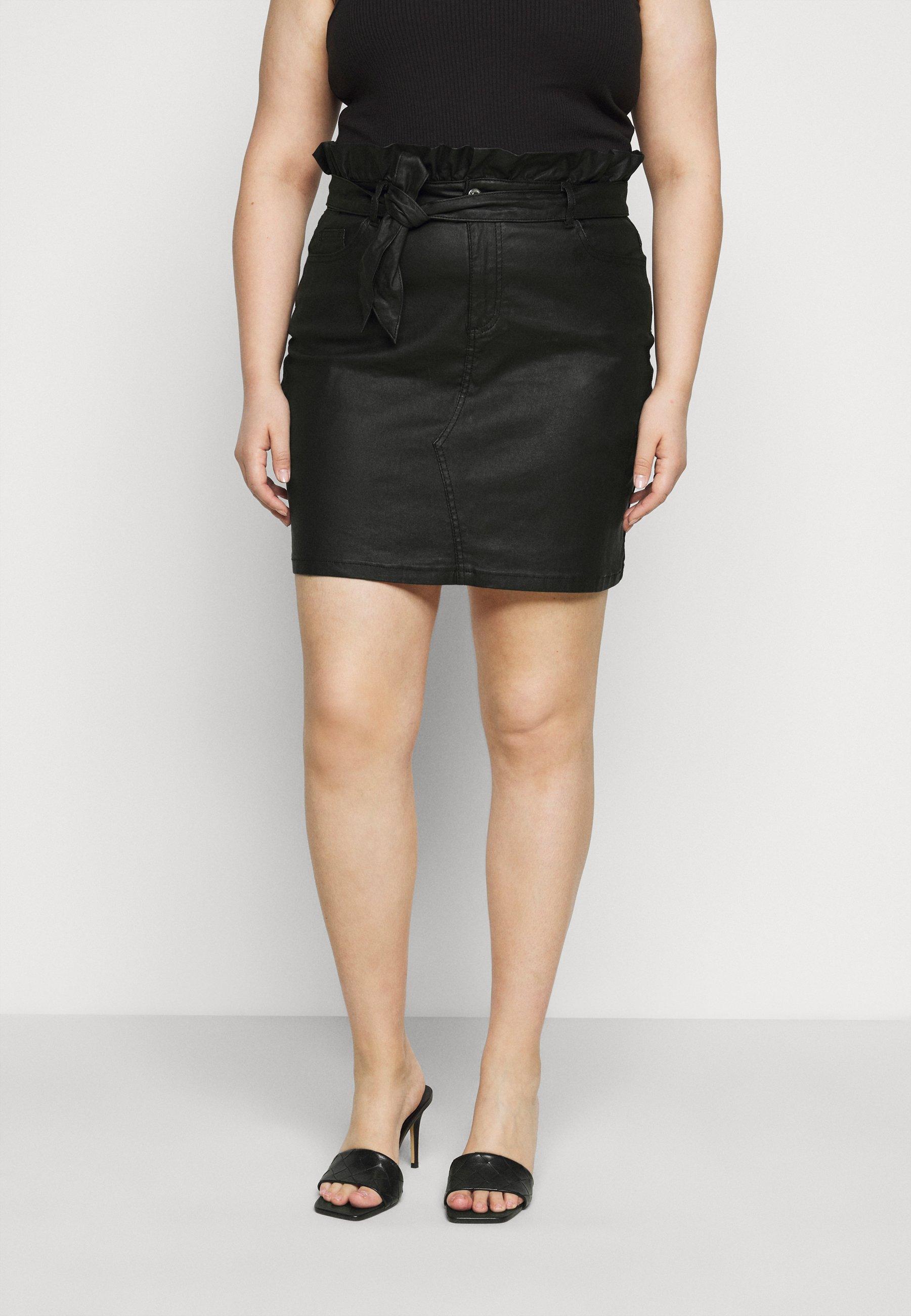 Femme COATED PAPERBAG WAIST SKIRT - Minijupe