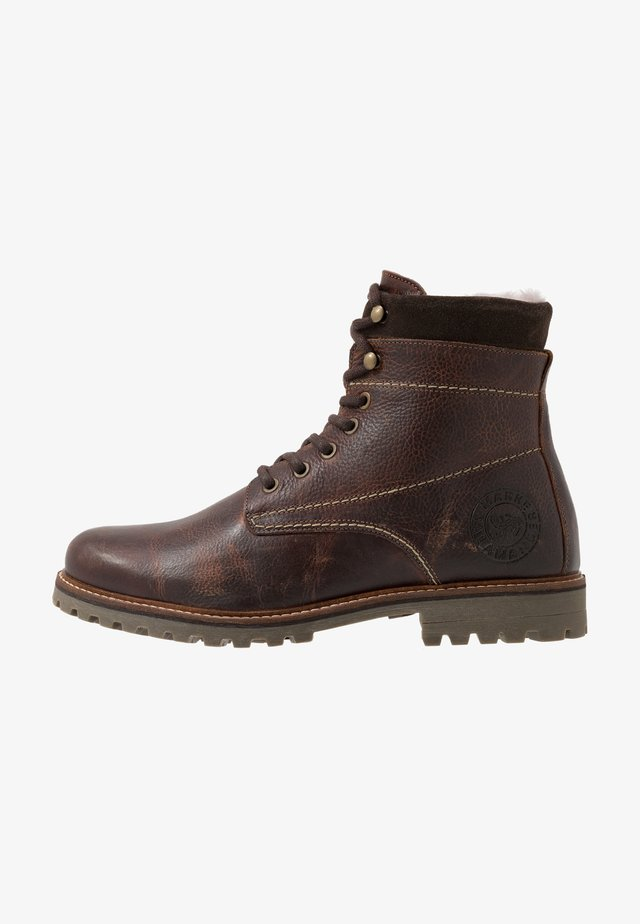 HARROLD - Lace-up ankle boots - cognac