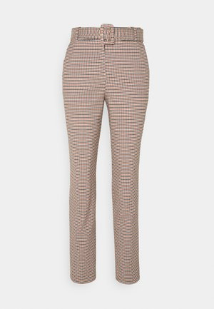 CHECK PANT - Trousers - toffee