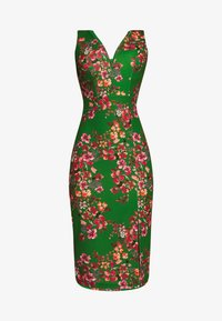 WAL G. - V NECK MIDI DRESS WITH CUPS - Cocktail dress / Party dress - green - 4