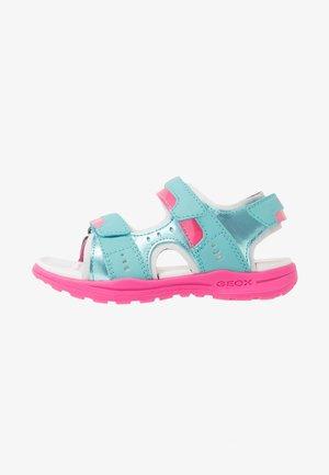 VANIETT GIRL - Walking sandals - light green/fuchsia