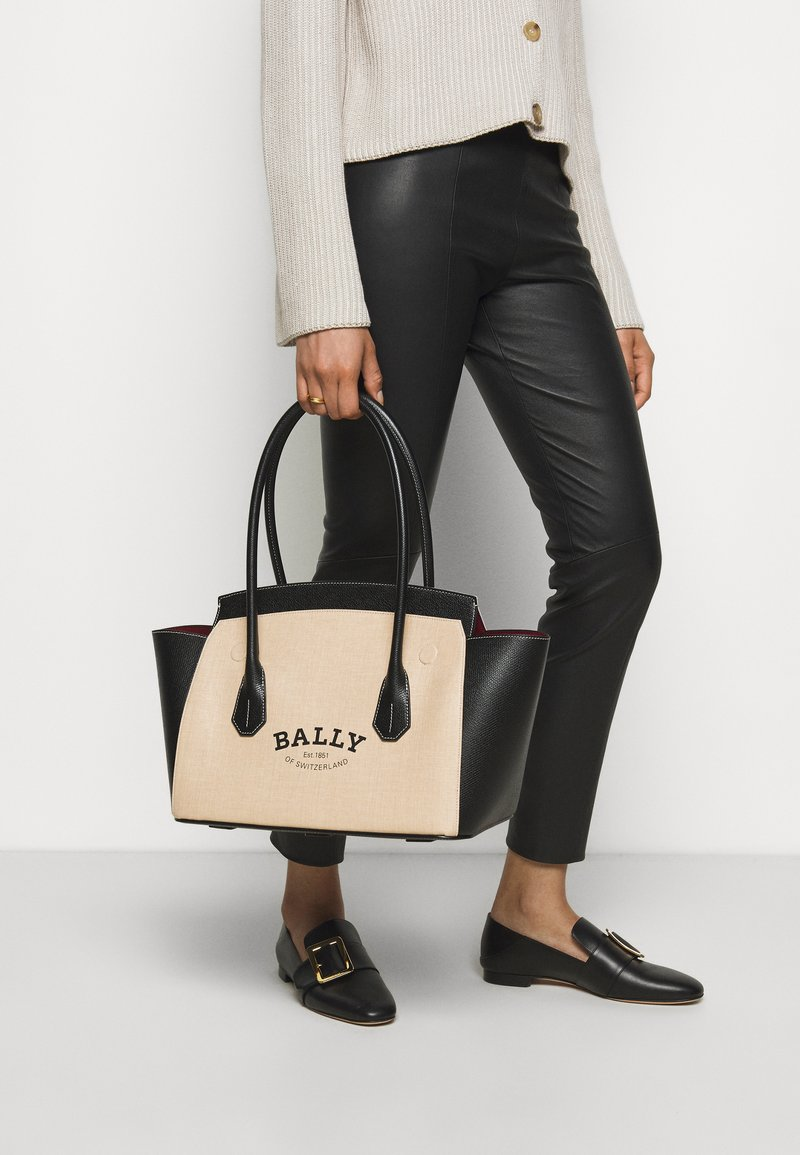 Bally - BALLY SOMMET - Handbag - natura/black