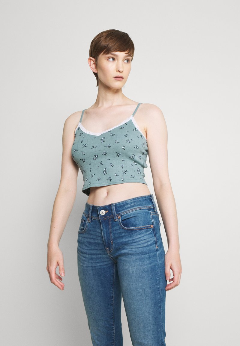 BDG Urban Outfitters - TRIM CAMI - Top - stormy sea