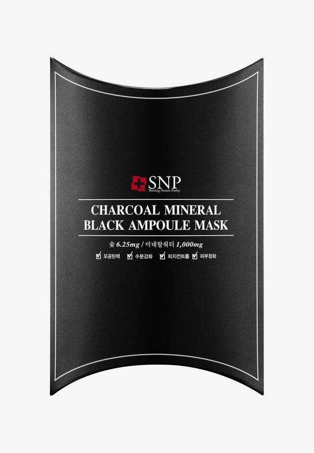 SNP CHARCOAL MINERAL BLACK AMPOULE MASK 10 PACK - Face mask - -