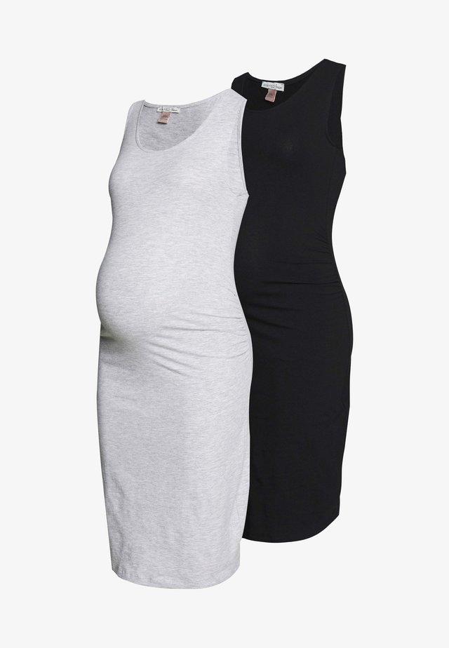 2 PACK - Sukienka etui - light grey/black