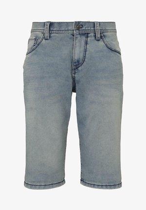 Denim shorts - used light stone blue denim