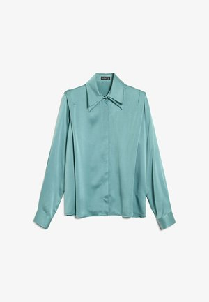 Button-down blouse - aqua/petrol