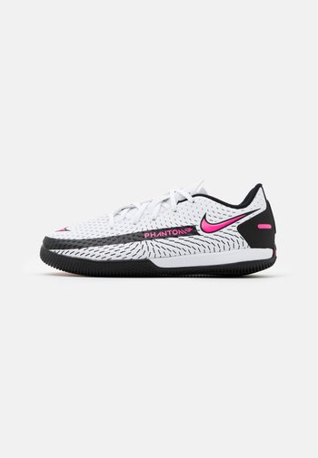 JR PHANTOM GT ACADEMY IC UNISEX - Indoor football boots - white/pink blast/black