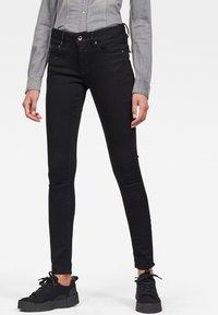 G-Star - MIDGE ZIP MID SKINNY - Jeans Skinny Fit - pitch black - 0