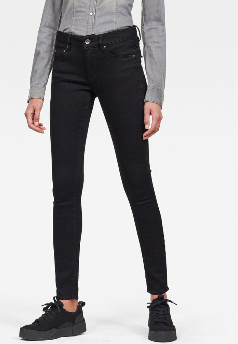 G-Star - MIDGE ZIP MID SKINNY - Jeans Skinny Fit - pitch black