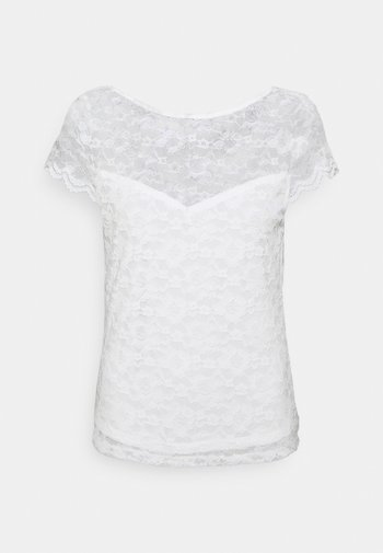 VIKALILA CAPSLEEVE - Camiseta estampada - cloud dancer