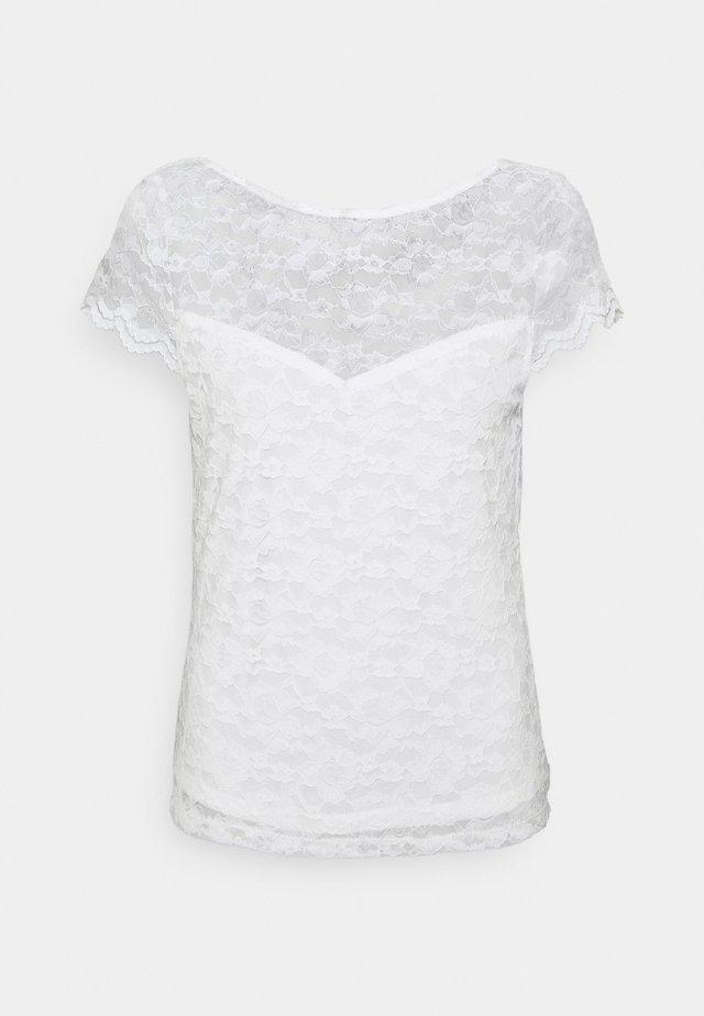 VIKALILA CAPSLEEVE - Print T-shirt - cloud dancer