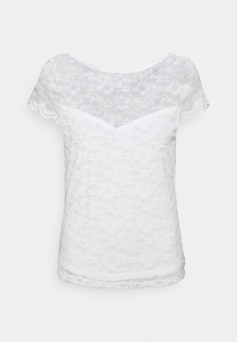 Vila - VIKALILA CAPSLEEVE - T-Shirt print - cloud dancer
