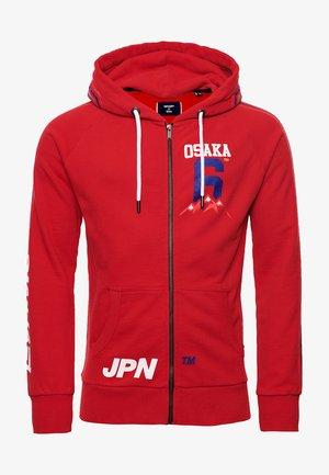 Zip-up hoodie - rouge red