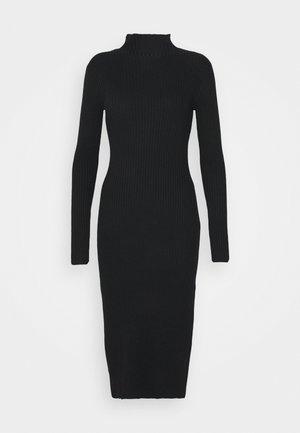 HADA DRESS - Pletené šaty - black
