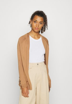 VMMILDA OPEN CARDIGAN - Cardigan - tobacco brown