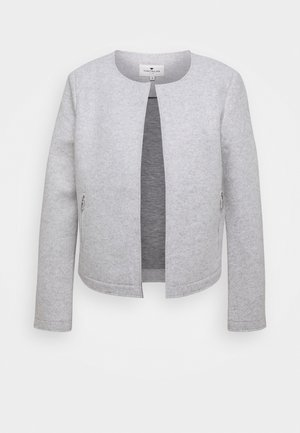 COSY BRUSHED - Blazere - silver grey melange