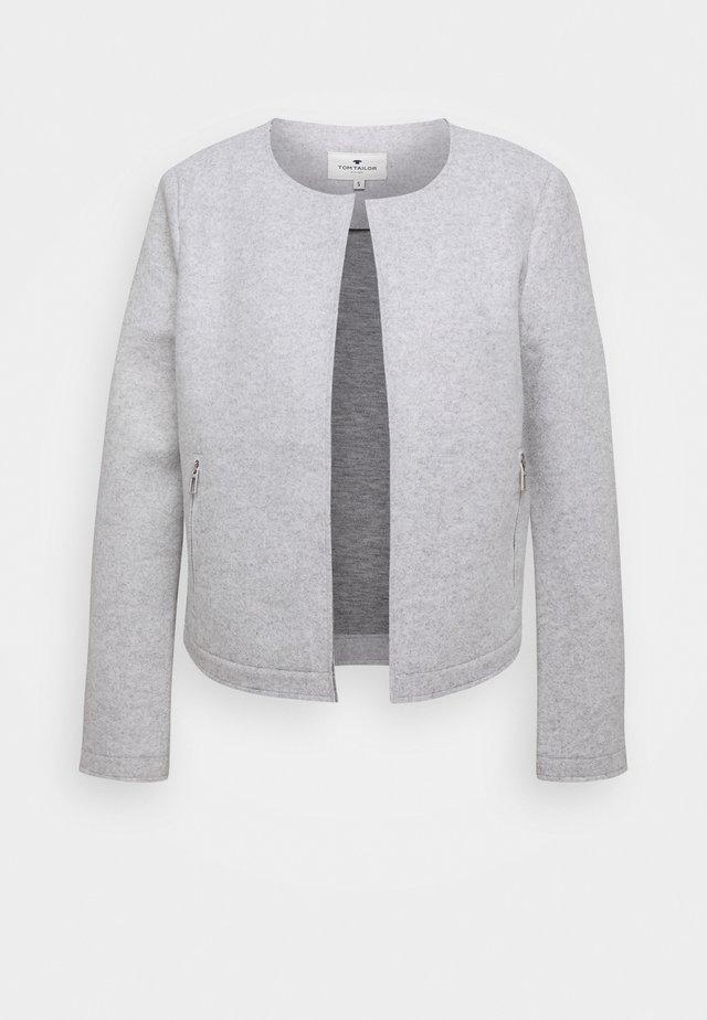 COSY BRUSHED - Blazer - silver grey melange