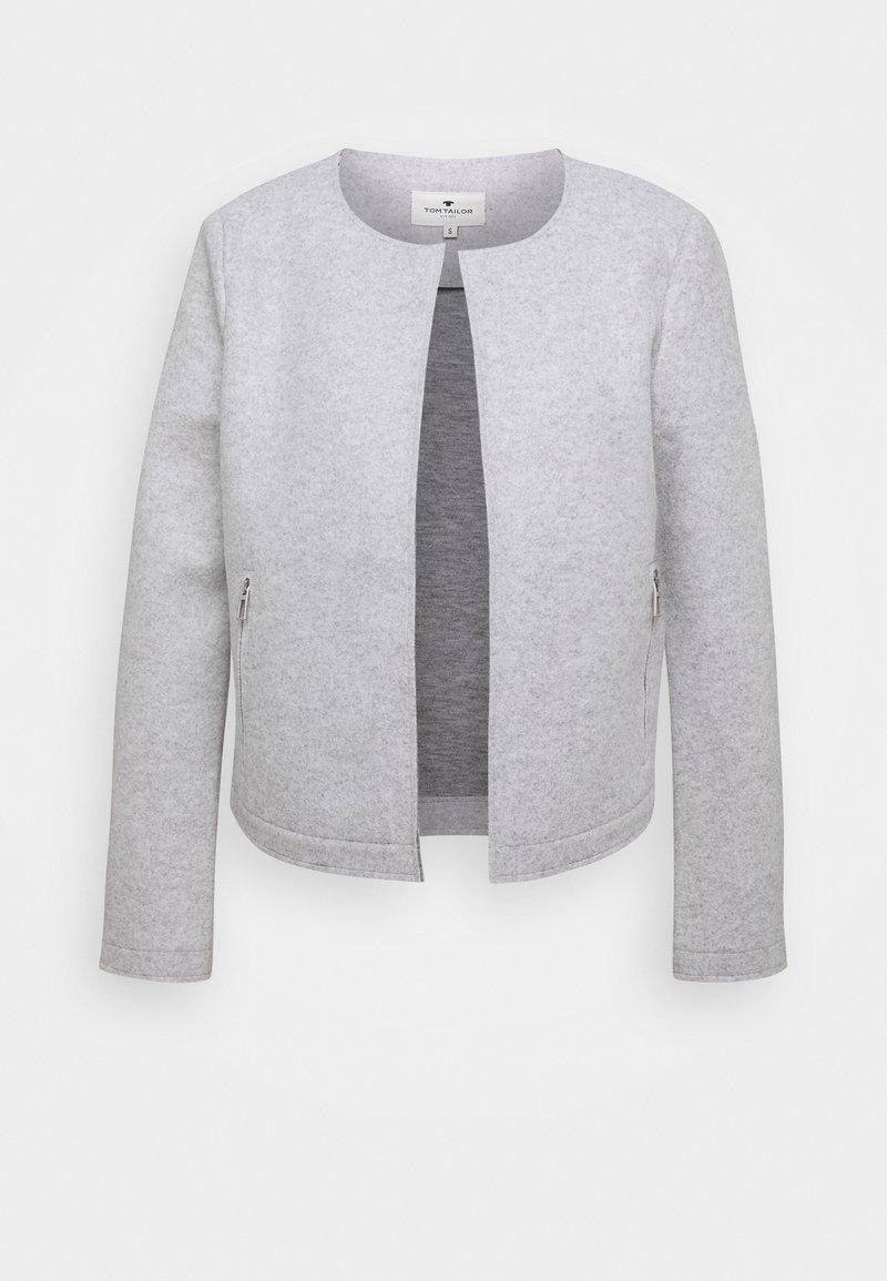 TOM TAILOR - COSY BRUSHED - Sportovní sako - silver grey melange