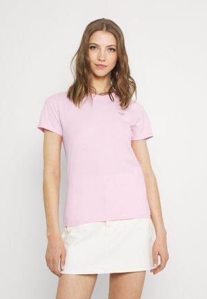 Jednoduché triko - pink mist