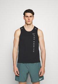 Nike Performance - MILER TANK HYBRD - Toppe - black/reflective silver - 0