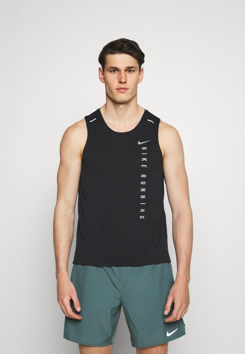 Nike Performance - MILER TANK HYBRD - Toppe - black/reflective silver