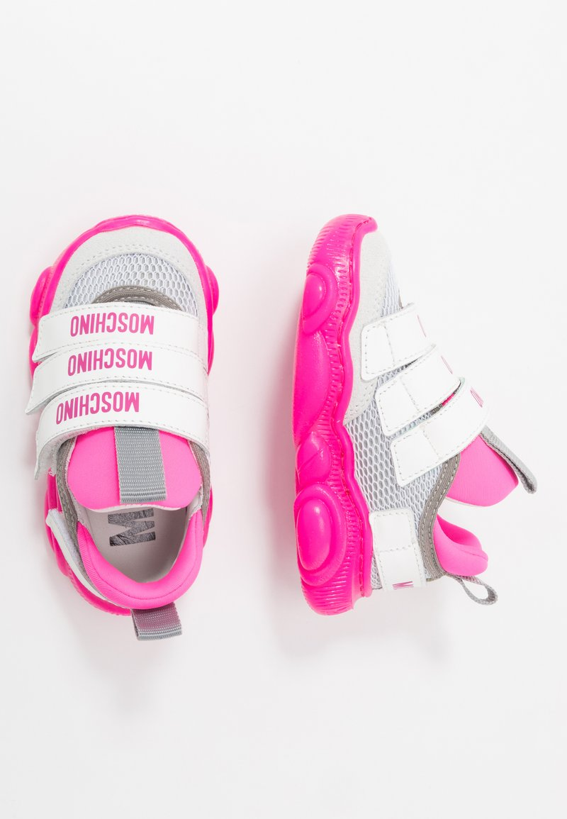MOSCHINO - Sneakers - white/neon pink