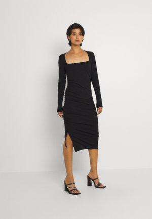 ENZOE SQUARE DRESS - Shift dress - black