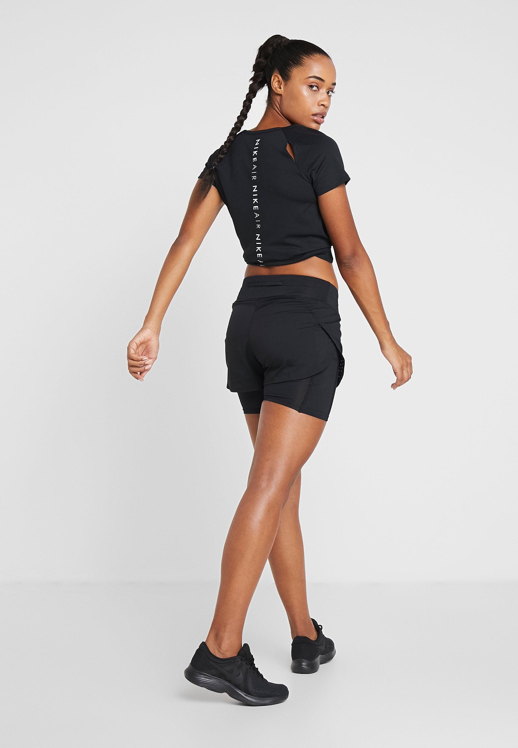 Nike Performance ECLIPSE 2 IN 1 - Sports shorts - black nItuD