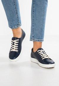 ECCO - SOFT - Sneakers laag - marine - 0