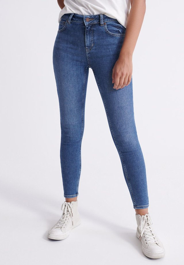 SUPERDRY MID RISE SKINNY JEANS - Jeans Skinny Fit - dark indigo