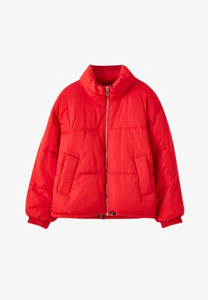 Winter jacket - mottled red