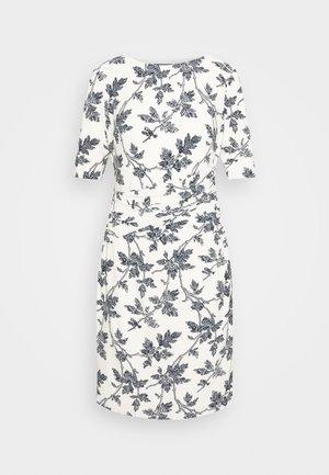 PRINTED MATTE DRESS - Jersey dress - lemon ivory