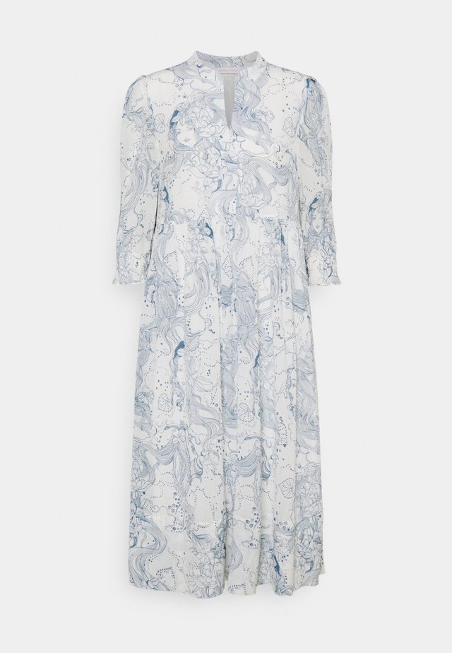 Robe d'été - white/blue