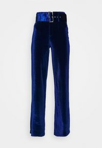 Missguided - BELTED WIDE LEG TROUSER - Trousers - navy - 4
