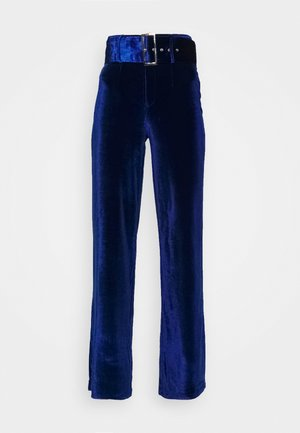 BELTED WIDE LEG TROUSER - Pantalones - navy