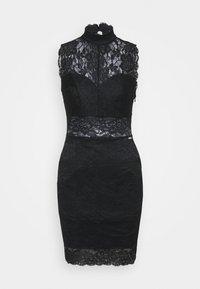 Guess - FLORAL BAND - Sukienka koktajlowa - jet black - 0