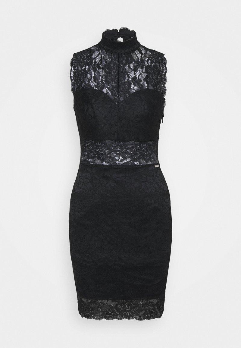 Guess - FLORAL BAND - Sukienka koktajlowa - jet black