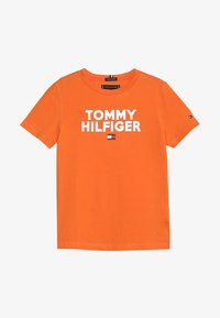 Tommy Hilfiger - LOGO TEE  - Print T-shirt - orange - 2